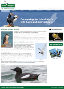 New Manx BirdLife website