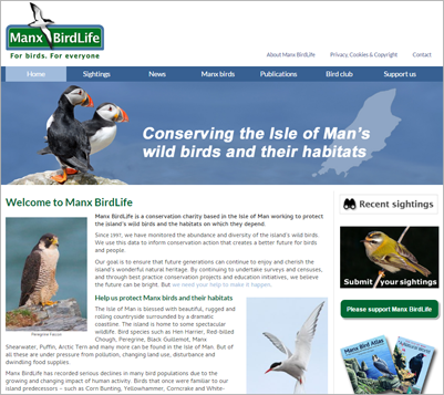 Manx BirdLife test drives new website