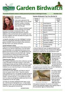 Click to download the December 2016 Garden Birdwatch update