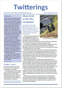 Twitterings - newsletter of the Manx Ornithological Society