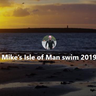 Follow Michael Davis's 'Around the Isle of Man' swim blog