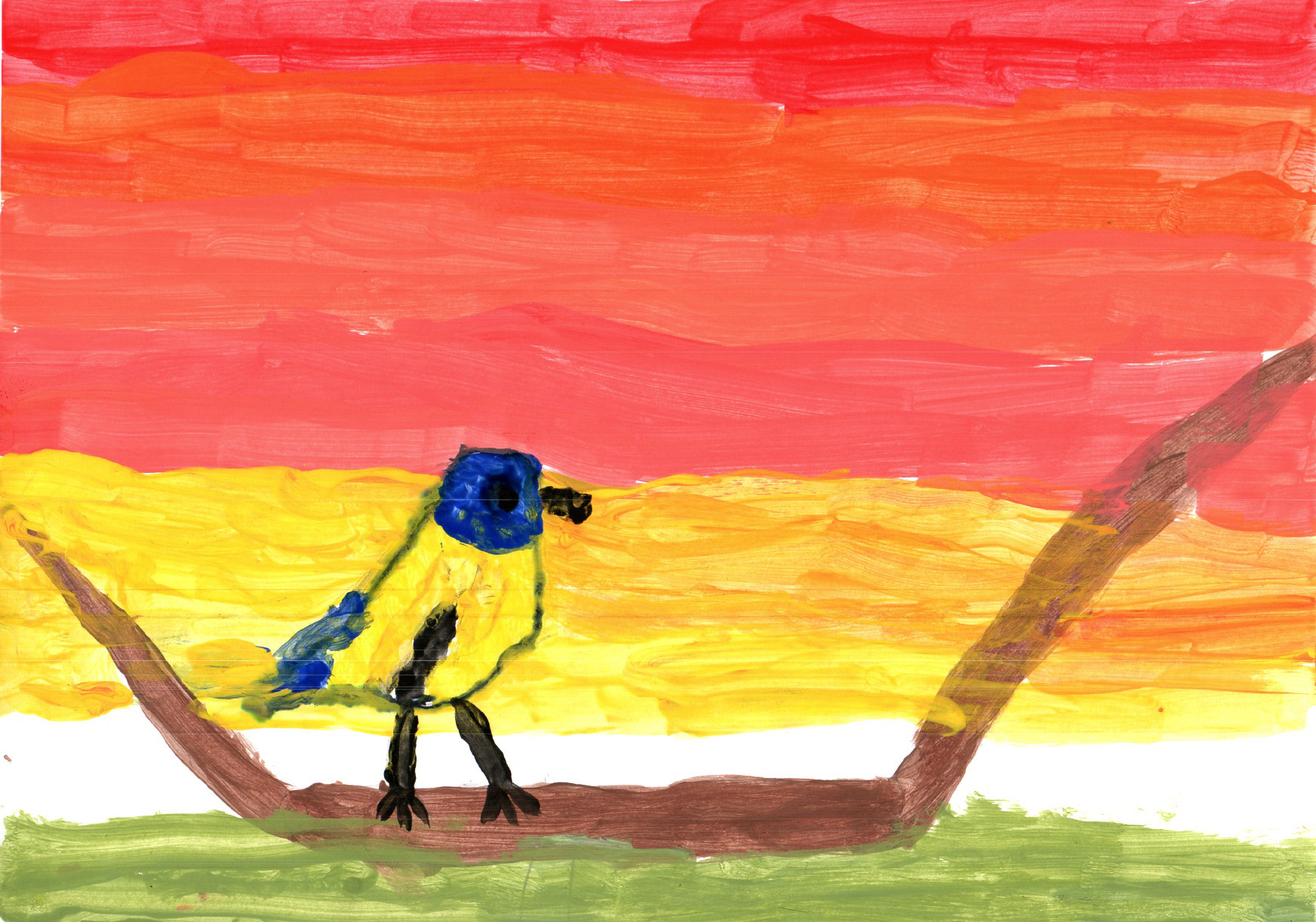 "Above: ""My Favourite Bird"" by Aalish Watterson (Yr 5, Arbory School)"