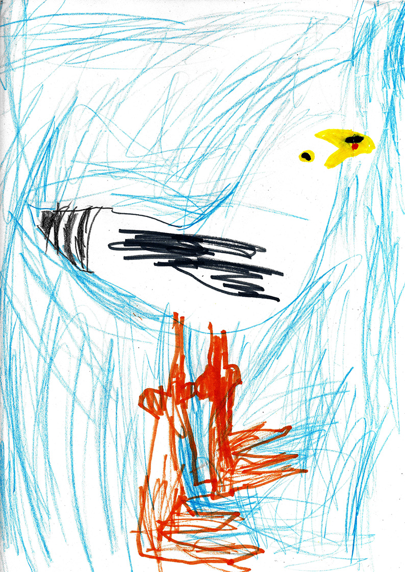 "Above: ""My Favourite Bird"" by George Davison (Reception, Arbory School)"