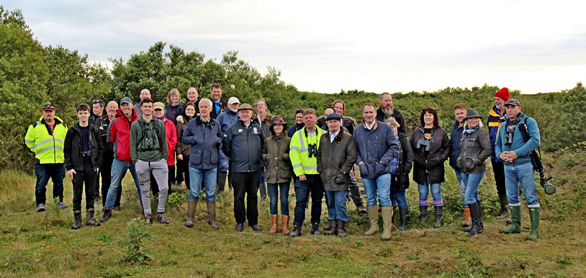 UNESCO Biosphere Isle of Man Stakeholder Partnership Group visit to Manx BirdLife Point of Ayre National Reserve 27 July 2020