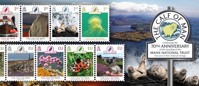 New stamp issue celebrating the 70th Anniversary of the Founding of the Manx National Trust