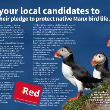 Manifesto for Manx Birds, IOM General Election September 2021